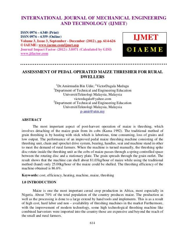 INTERNATIONAL 0976Mechanical Engineering andIssue 3, Sep- Dec (2012) © IAEME–     International Journal of      6340(Print...