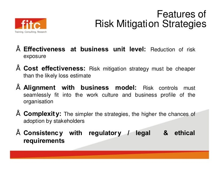 organizational risks mitigation methods essay View this essay on strategies of risk identification and mitigation risk management refers to s strategies adopted by an organization in order to protect itself.