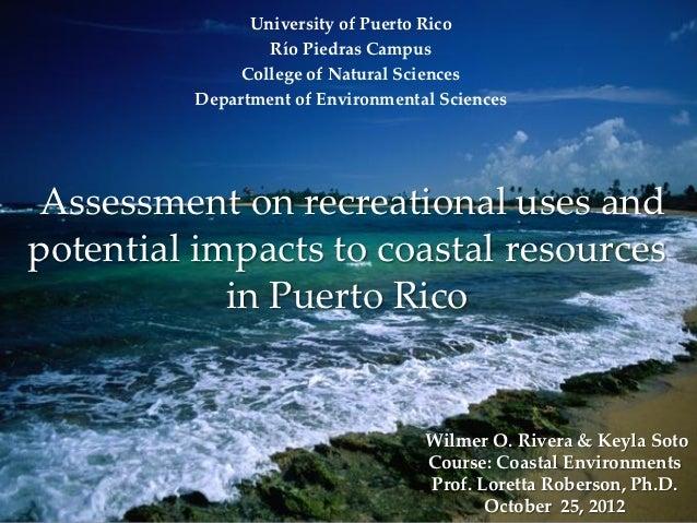 University of Puerto Rico                 Río Piedras Campus              College of Natural Sciences         Department o...