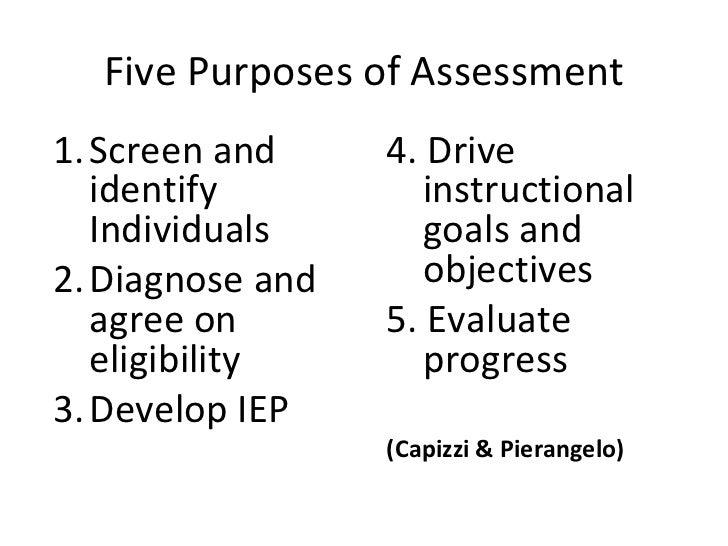 <ul><li>Screen and identify Individuals </li></ul><ul><li>Diagnose and agree on eligibility </li></ul><ul><li>Develop IEP ...