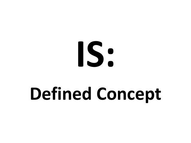 IS:Defined Concept