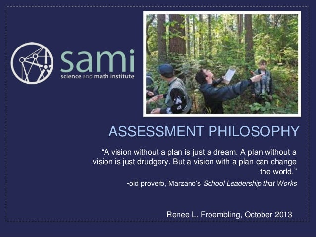 Renee's Assessment Philosophy