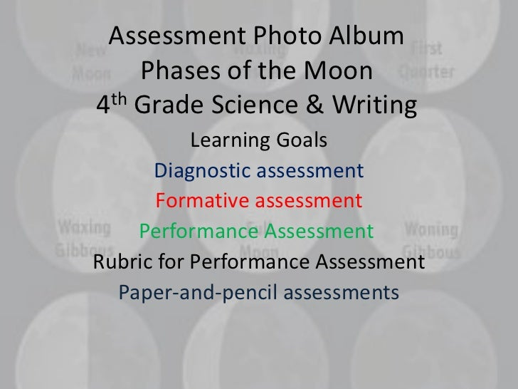 Assessment Photo Album    Phases of the Moon4th Grade Science & Writing           Learning Goals      Diagnostic assessmen...