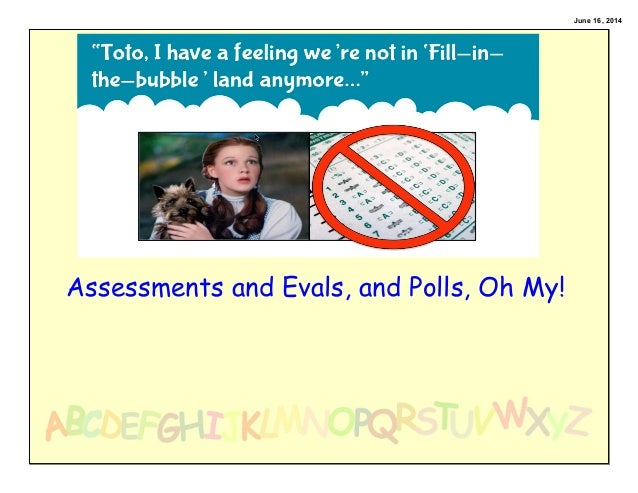 June 16, 2014 Assessments and Evals, and Polls, Oh My!
