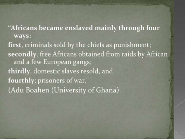What are some economic and cultural consequences for both Africa and The Americas during the Slave Trade?