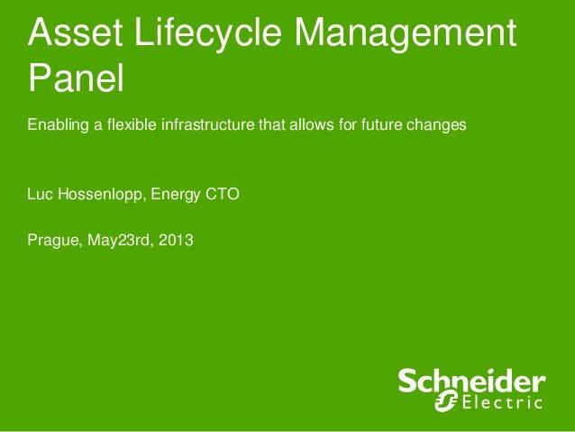Asset Lifecycle ManagementPanelEnabling a flexible infrastructure that allows for future changesLuc Hossenlopp, Energy CTO...
