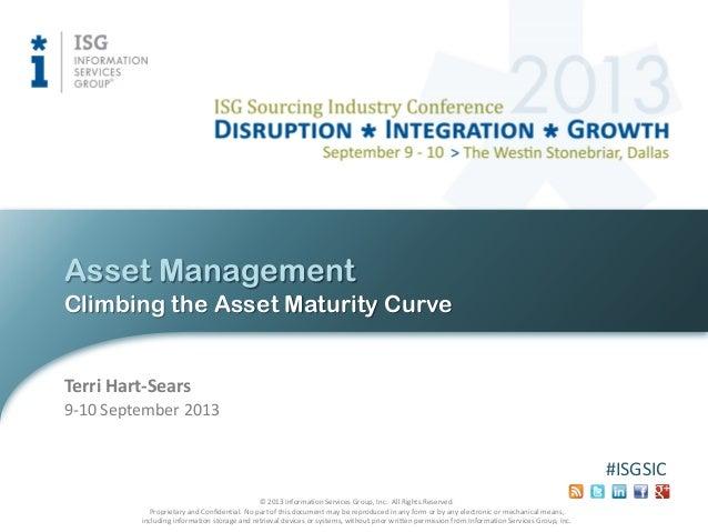 Asset Management: Climbing the Asset Maturity Curve