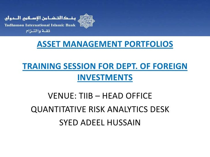 Asset Management Portfolio