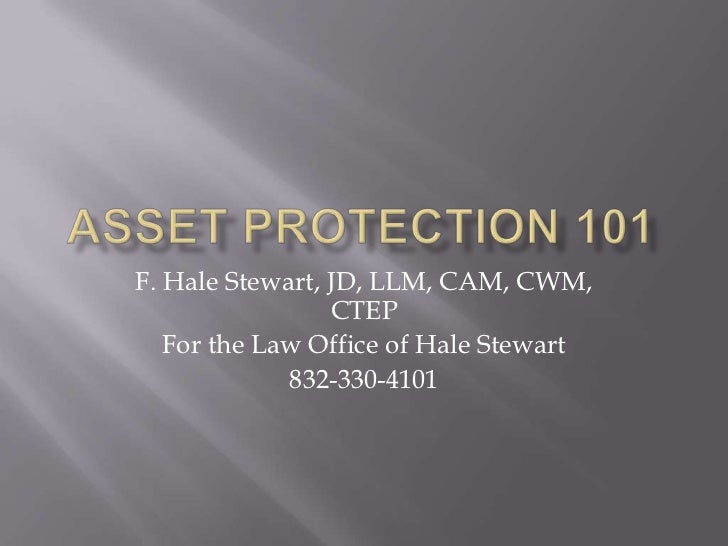 Asset protection 101