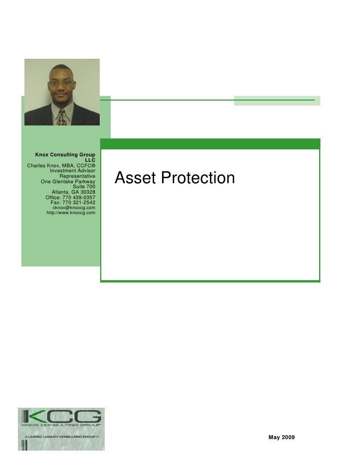 Asset Protection Presentation