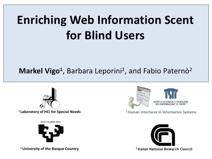 Enriching Web Information Scent for Blind Users