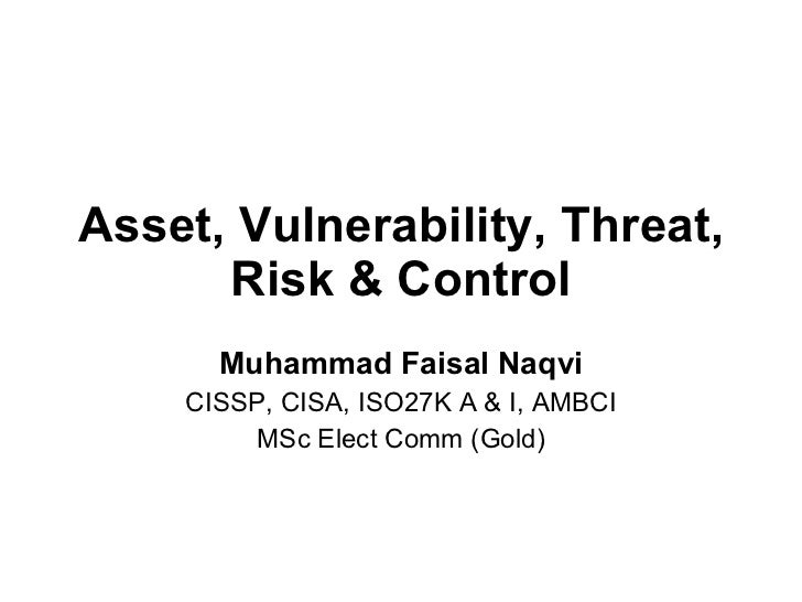 Threat, vulnerability, risk – commonly mixed up terms