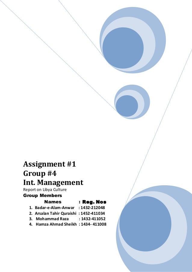 Assginment  1 int mgt