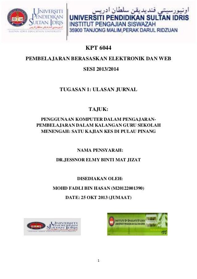 ULASAN JURNAL KPT 6044 (2013)