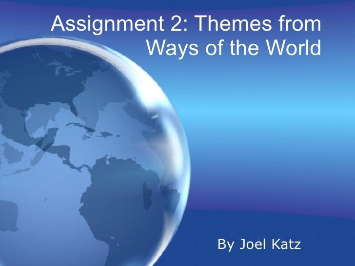 Assign 2 ways of world