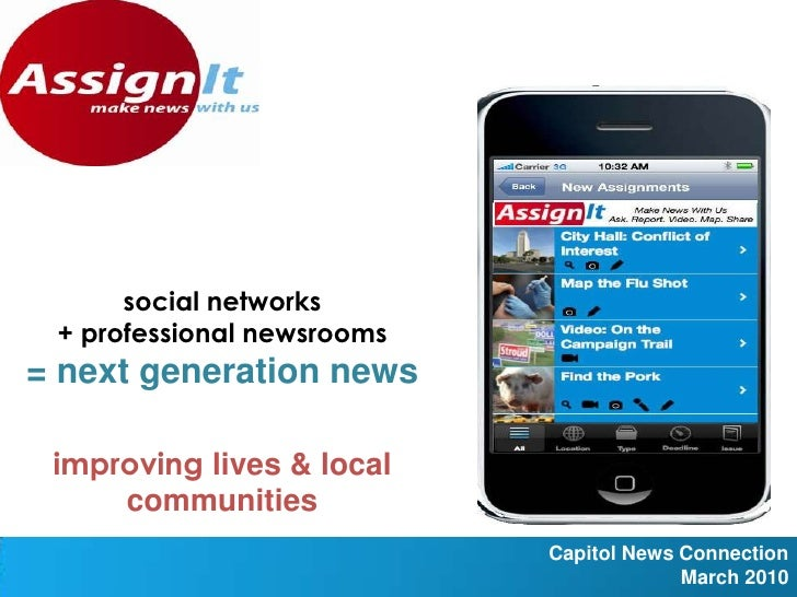 social networks<br />+ professional newsrooms<br />= next generation news <br /> <br />improving lives & local communities...