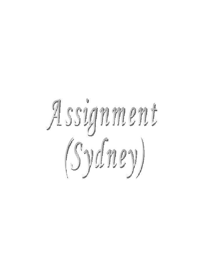 I choose Sydney as a location for the assignment. So here is some introduction about the Sydney, Australia.  Sydney is the...