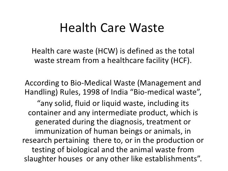 Biomedical Waste Management Slideshare | Review Ebooks