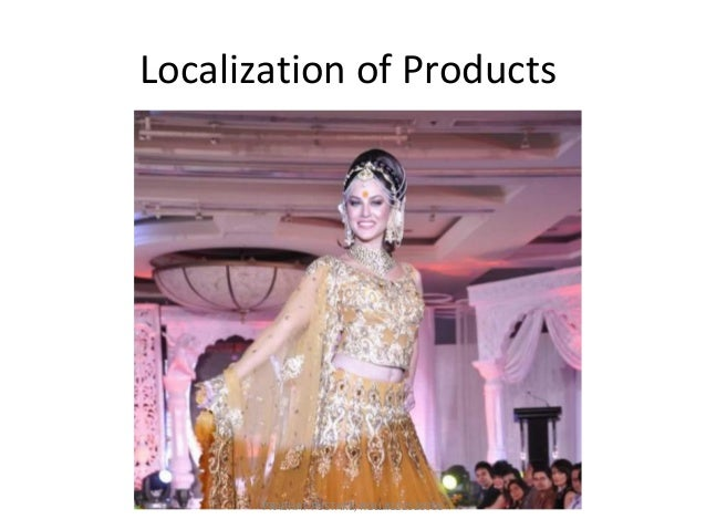Localization of Global Products in India