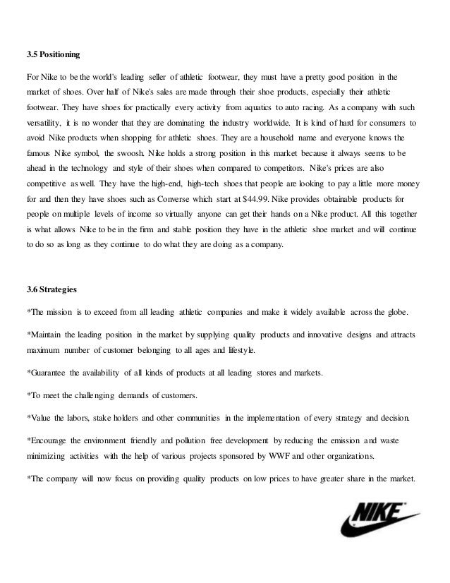 nike sales promotion plan This case study analyses the ever-evolving marketing strategies adopted by nike to become a global brand businesstoday  essential part of the marketing growth of nike  nike's sales .