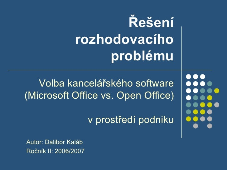 Assignment Operacni Vyzkum Prezentace 070526