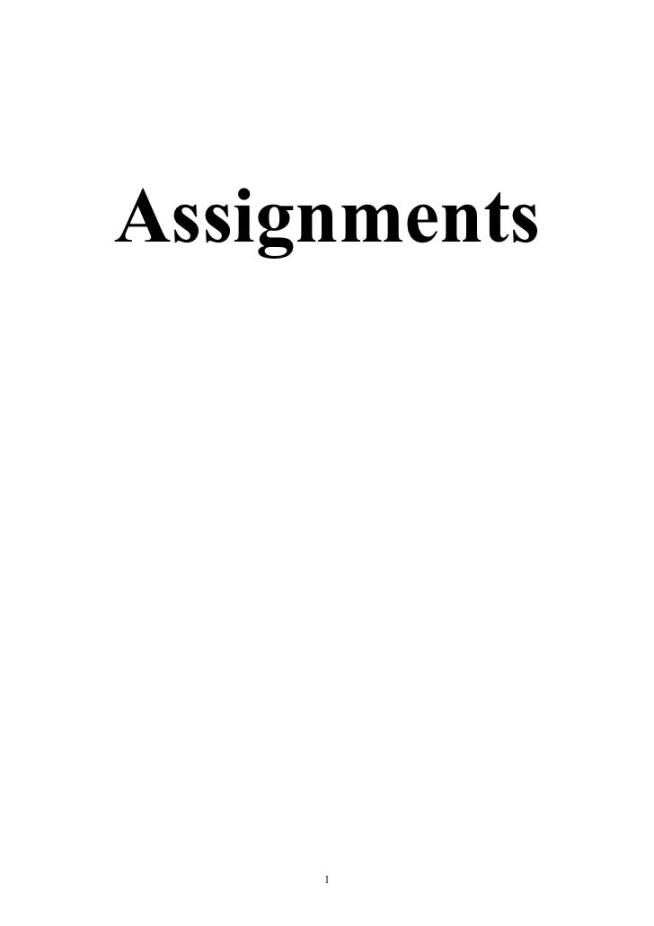 Assignments     1