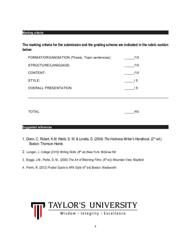 marking thesis criteria These guidelines are based on the rules of thumb that although it is related to numerical marking systems that the guide is to grades at.