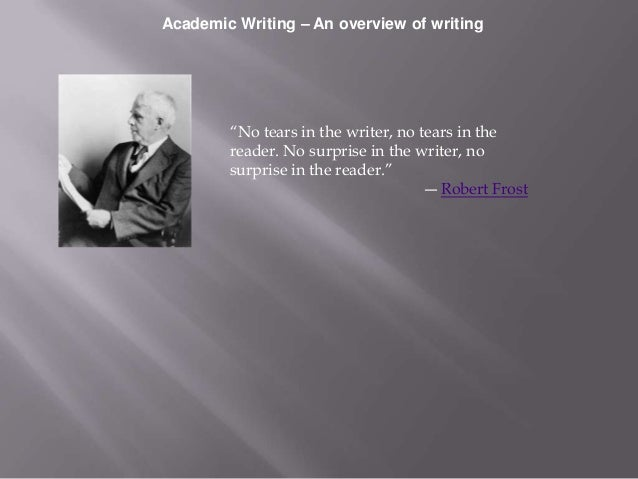 Academic writing - An overview of types of writing