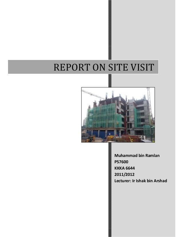 construction site visit report pdf