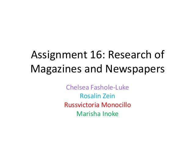 Assignment 16