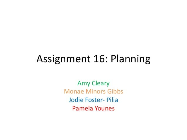 Assignment 16 all