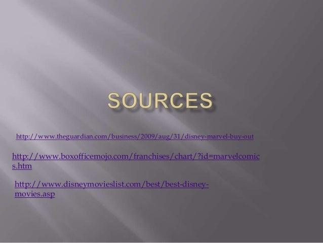 http://www.theguardian.com/business/2009/aug/31/disney-marvel-buy-out  http://www.boxofficemojo.com/franchises/chart/?id=m...