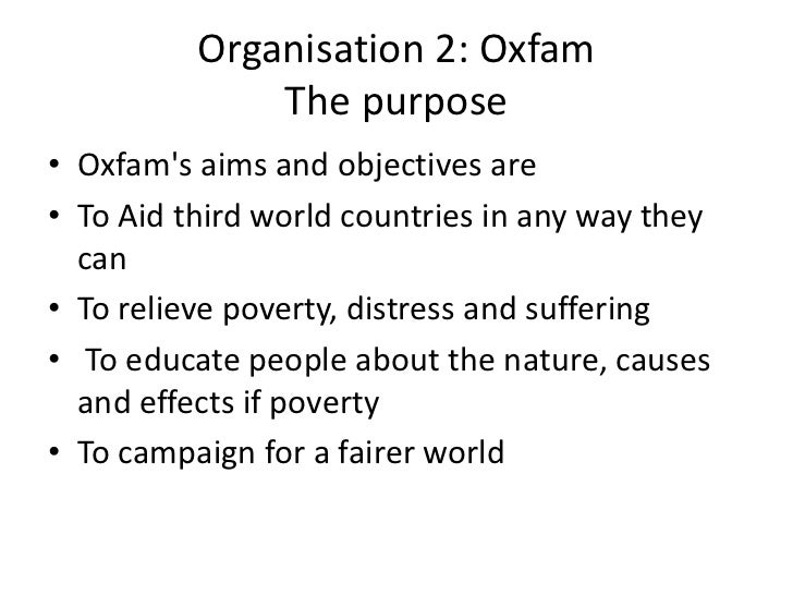 organizations aims and objectives
