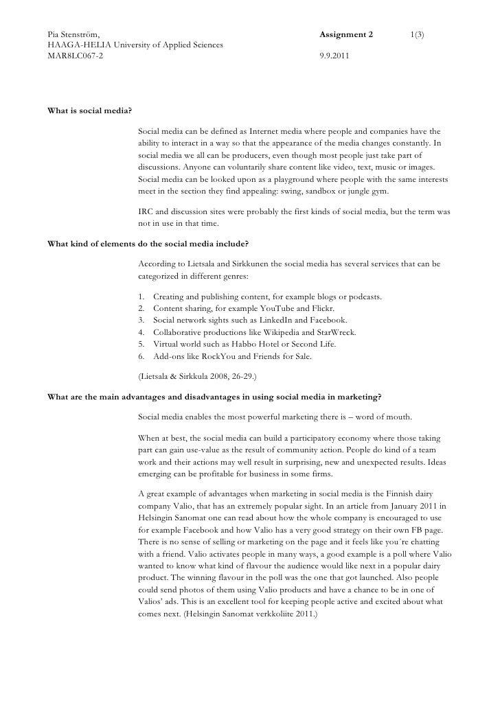 Social Media in Marketing Assignment 2