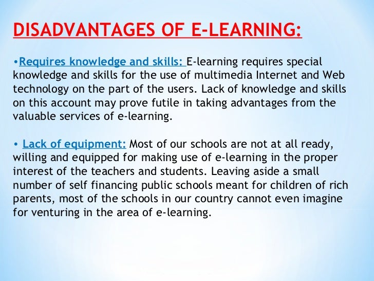 essay about e learning E-learning versus classroom learning from wiki this is e-learning testing is done over the computer with multiple-choice or essay structure.