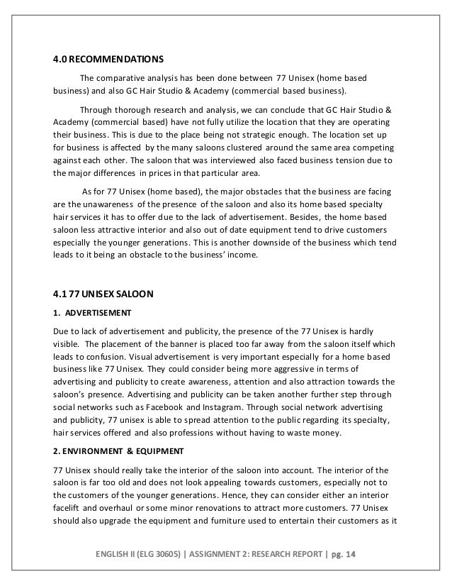 Company report writing