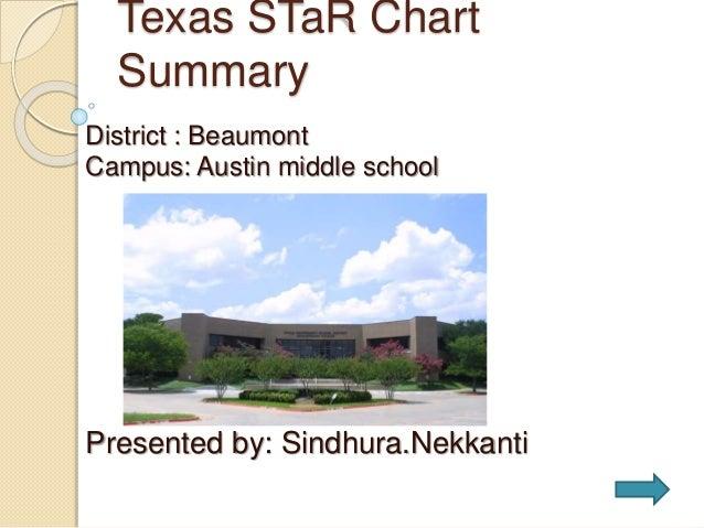 Texas STaR Chart Summary