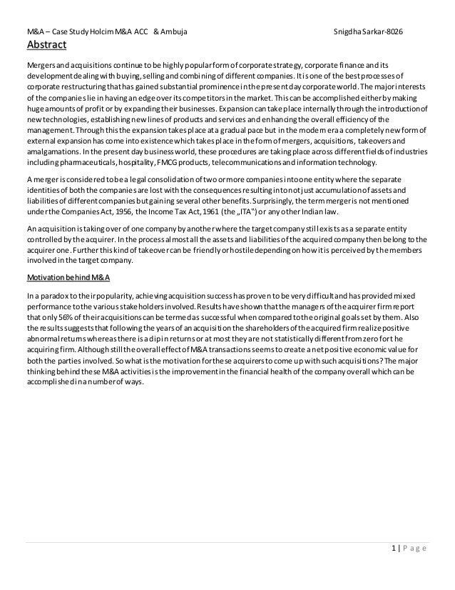 Cultural Strategies in M&As: Investigating Ten Case Studies