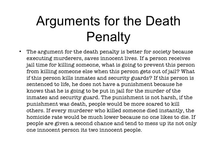 Argumentative essay on the death penalty
