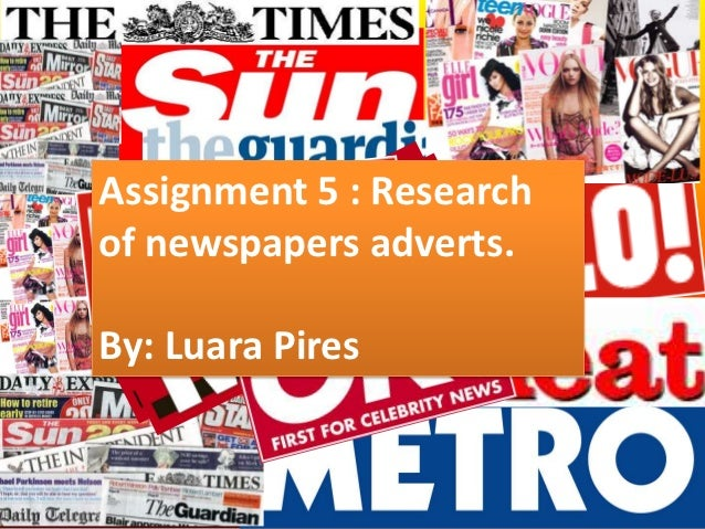 Assignment 5 : Researchof newspapers adverts.By: Luara Pires