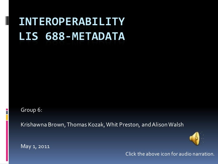 Assignment 5 interoperability slide share
