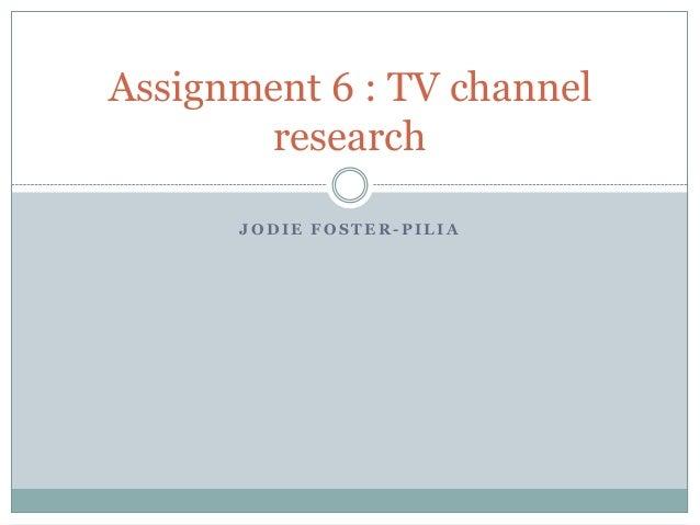 Assignment 6   tv channal analysis