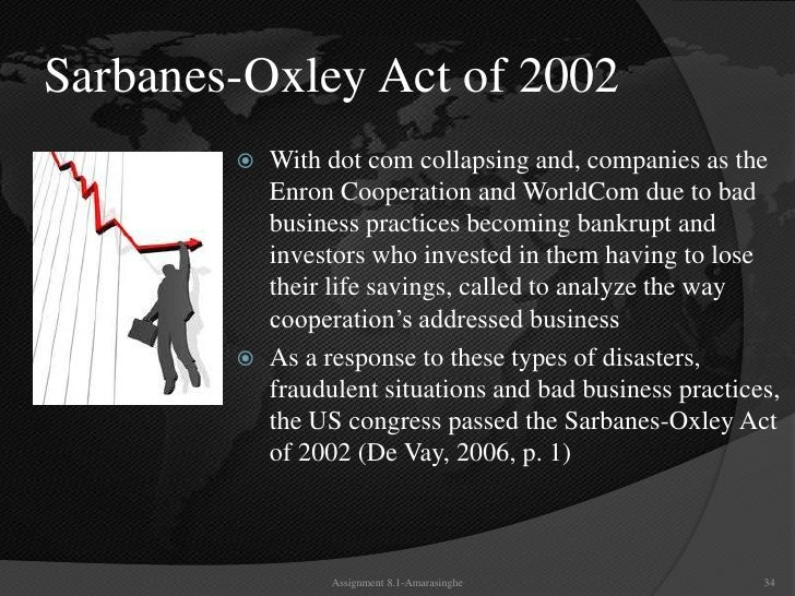 sarbanes oxley act 2 essay Acc 561 sarbanes-oxley act of 2002 week 2 paperwrite a paper that describes the main aspects of the regulatory environment which nursing essay writing service.