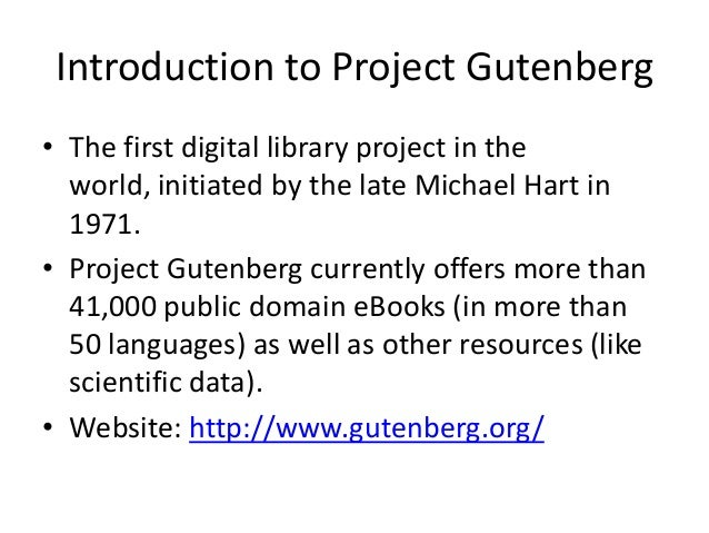 Project guternburg