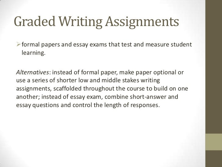 Short writing assignments