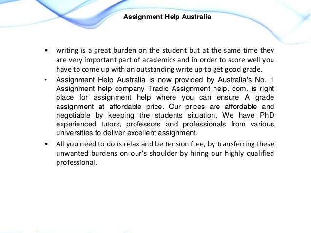 Assignment Help Australia Online & Do My Assignment Services in ...