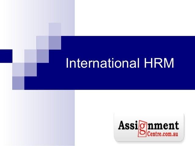 Human resource homework help