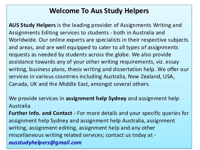 Assignment help sydney