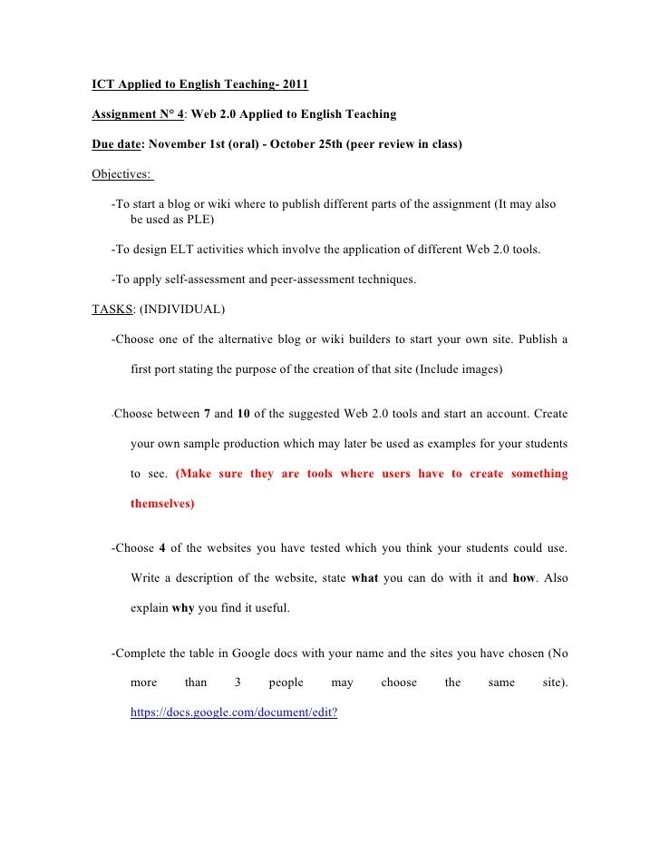 Assignment n 4   2011
