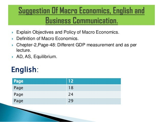 macroeconomics assignment explanation The links between macroeconomic policy and poverty reduction:  rather than exclusively to macroeconomics, they are beyond the scope of this pamphlet.